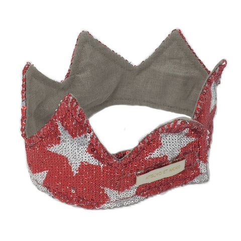 Planètes Headband in Red