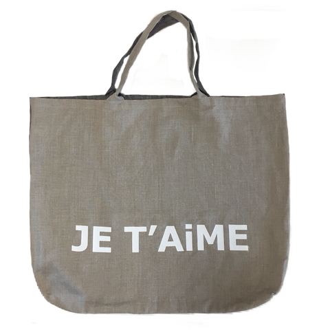 Je T'aime Linen Bag - stripe