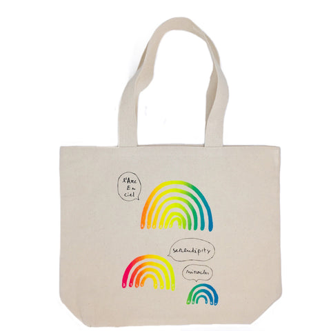 L'arc en Ciel Canvas Tote Bag