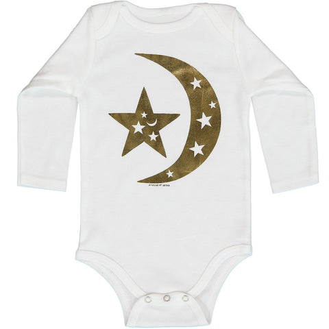 A-Dream Onesie Long Sleeve in Gold