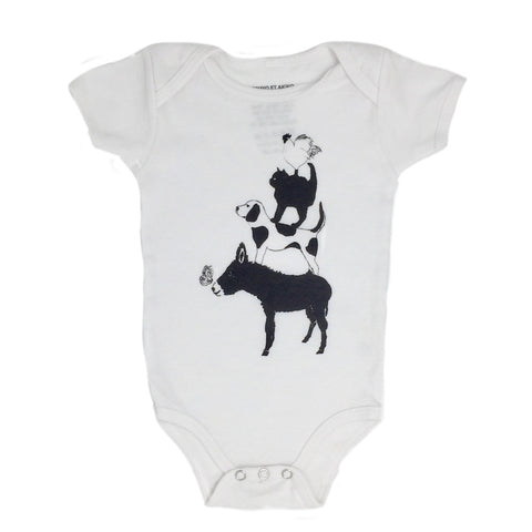 Cosmic Friends Onesie in White
