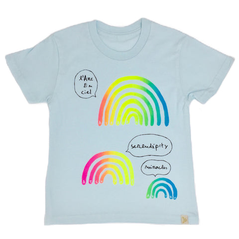 Crew Tee - L'arc en Ciel in Blue