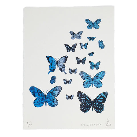 WALL ART - PAPiLLONS - BLUE
