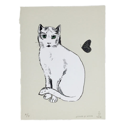 WALL ART - CHAT BLANC