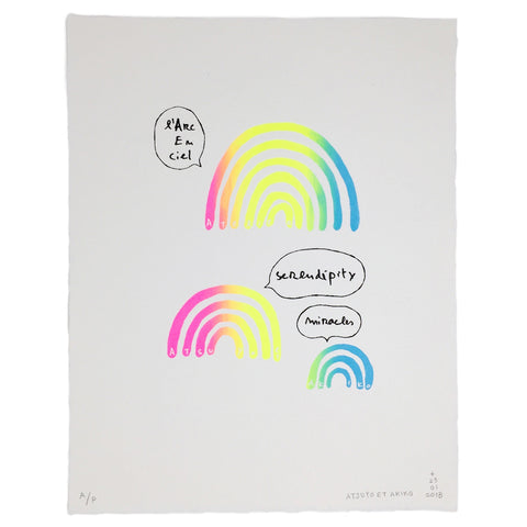 WALL ART - L'ARC EN CiEL - WHiTE