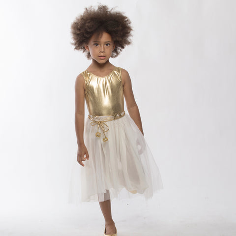 A-Loulou Dress in Gold