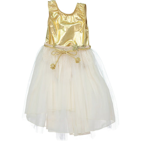 DOLL DRESS iN METALLiC SiLVER
