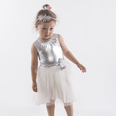 Loulou Dress in Silver
