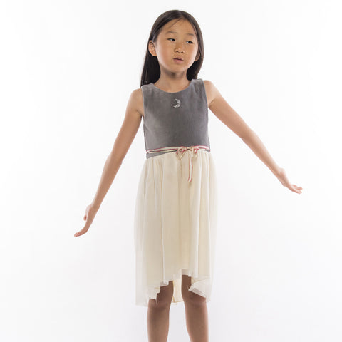 A-Lune Dress in Charcoal
