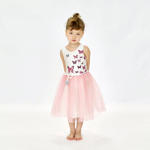 Papillons Dress in Pink