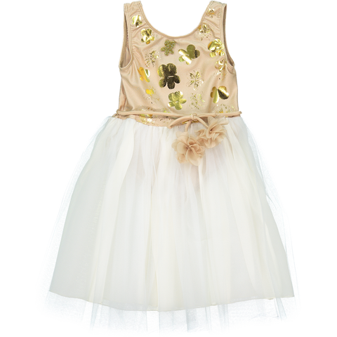 Le Bouquet Dress in Beige