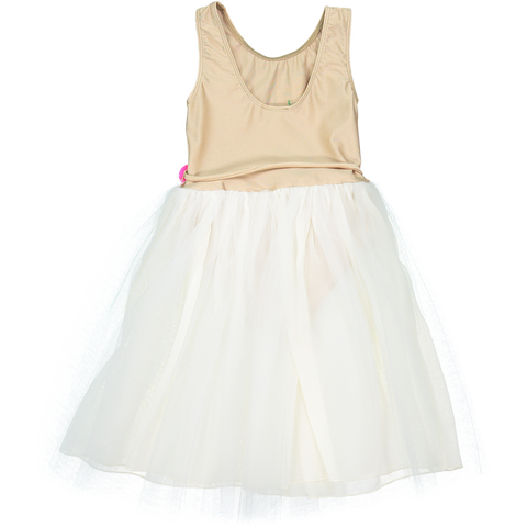 DRESS - CHAT BLANC - BEiGE