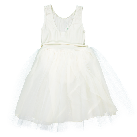 Chat Blanc Dress in Ivory