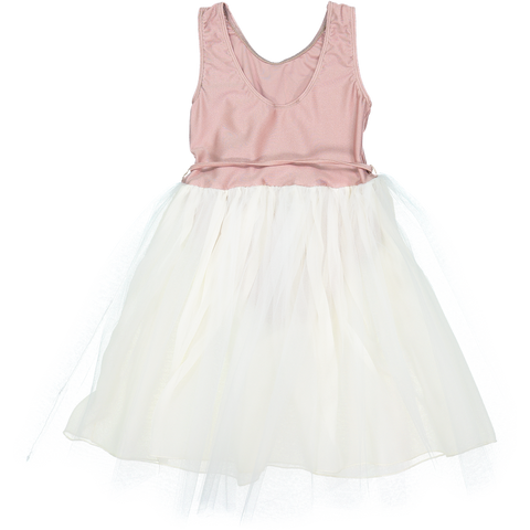 DRESS - CHAT BLANC - ROSE