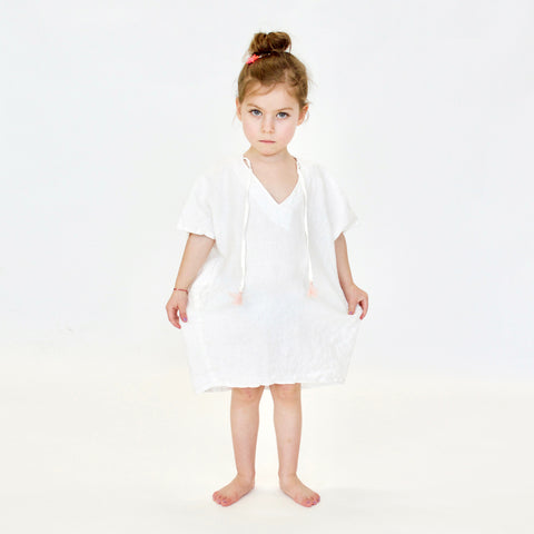 DRESS - TERRE - MiLKY WHiTE