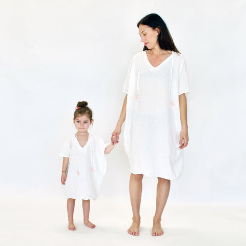 Terre Women's Dress in Milky White