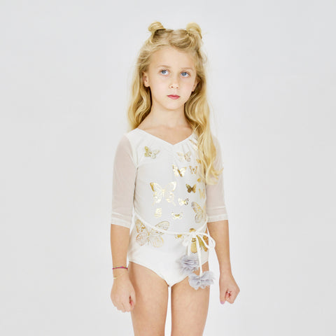 LEOTARD - PAPiLLONS  - iVORY/GOLD