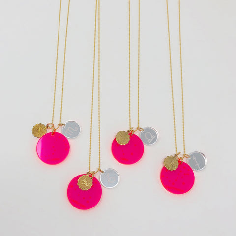 Zodiac Necklace - Pink