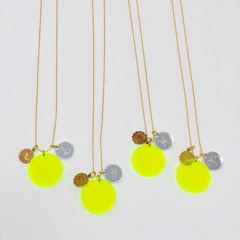 Zodiac Necklace - Yellow