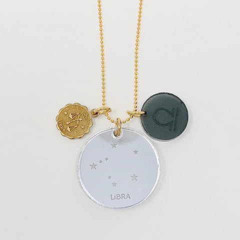 Zodiac Necklace - Gray