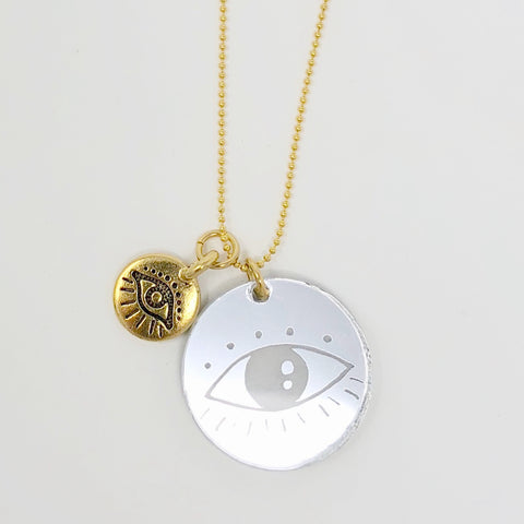Evil Eyes Necklace - Mirror