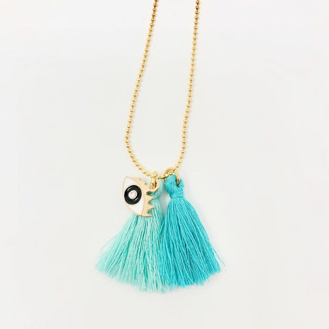 Miss Eye Chain Necklace