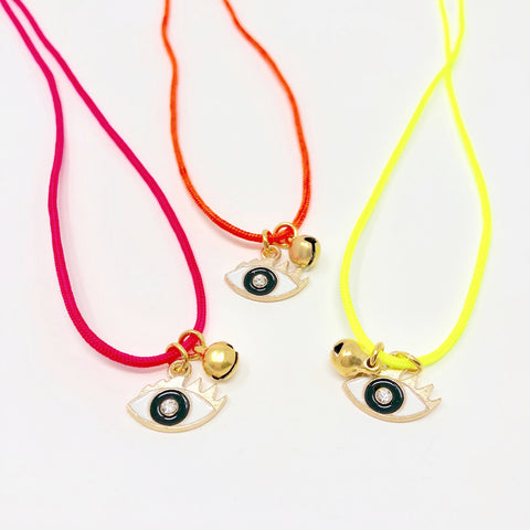 Evil Eyes Necklace - Yellow