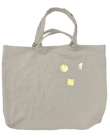 Unity Linen Bag with Double Handles in Natural