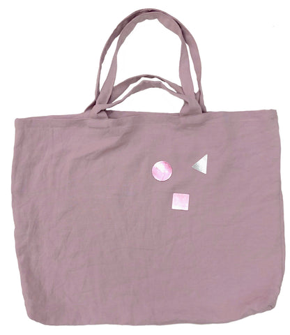 Unity Linen Bag with Double Handles in Pink