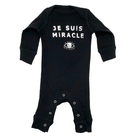 A-Je Suis Miracle Coverall in Black