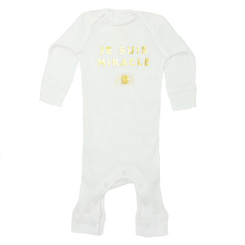 A-Je Suis Miracle Coverall in White