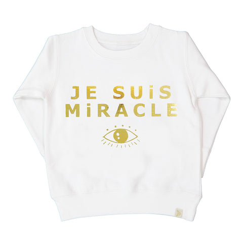 A-Je Suis Miracle Fleece Long Sleeve Pullover - Gold