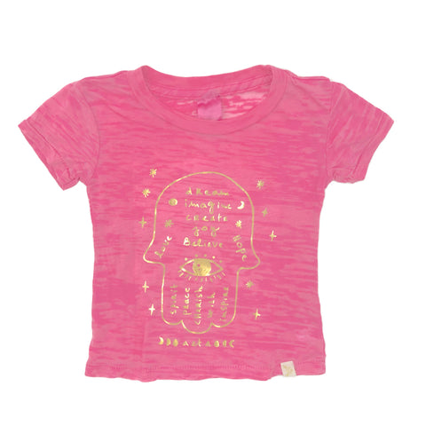 Hamsa Burnout Tee in gold foil