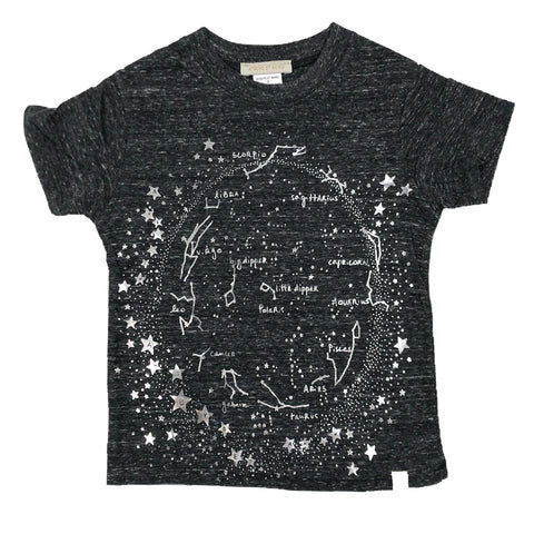Tri Blend Tee - Milky Way with Silver Foil