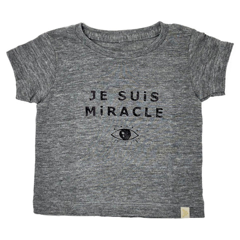 Tri Blend Tee - Je Suis Miracle in black Foil