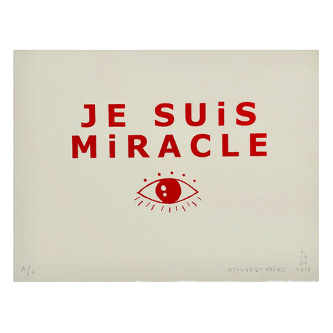Je Suis Miracle Wall Art in Red Foil