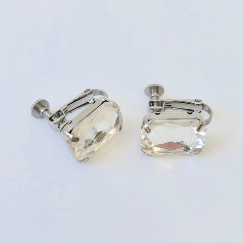 RHINESTONE EARRING - APRIL