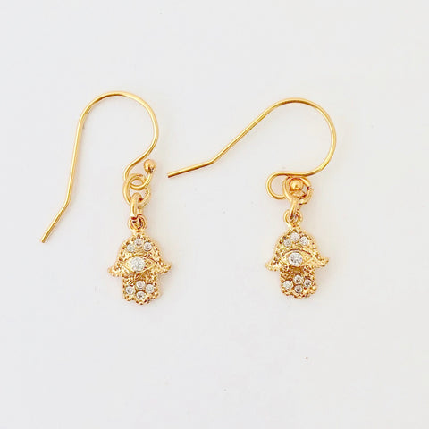 Gold Filled Pierce - Petit Hamsa
