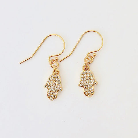 Gold Filled Pierce - Golden Hamsa