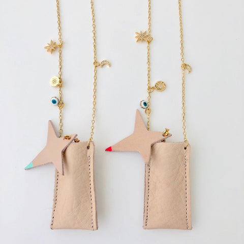 Gold Filled Necklace + Pierce Set - Golden Star