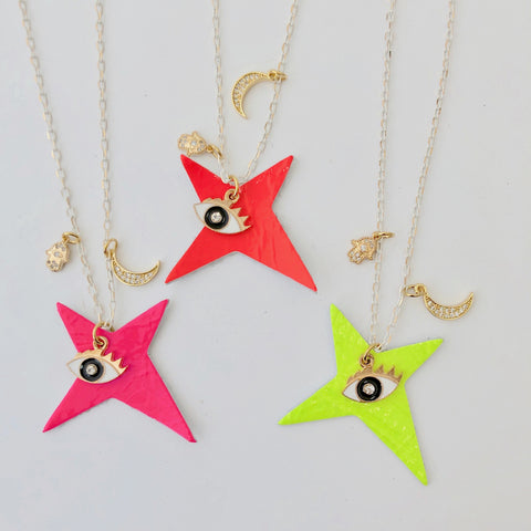 Team Amulet Necklace - Fluo
