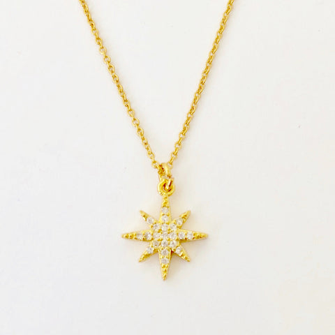 Gold Filled Chain Necklace - Golden Star