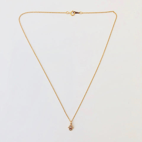 Gold Filled Chain Necklace - Petit Hamsa