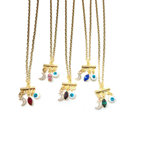 Chat Papillon Necklace in Gold