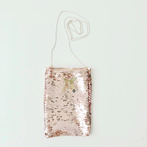 Je suis miracle Petit Canvas Bag in Gold foil