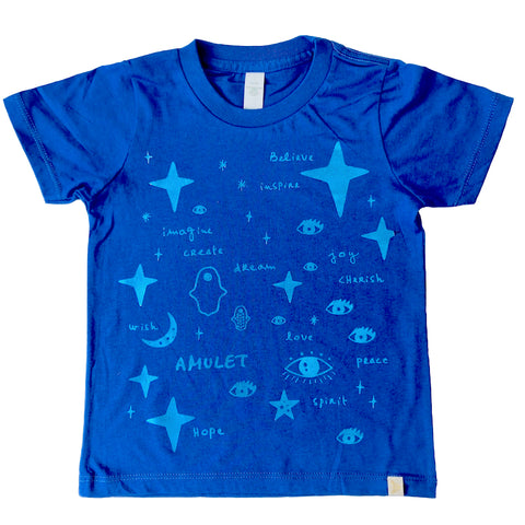 Crew Tee - Team Amulet in Blue Foil