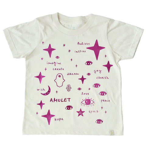 Crew Tee - Team Amulet in Pink Foil