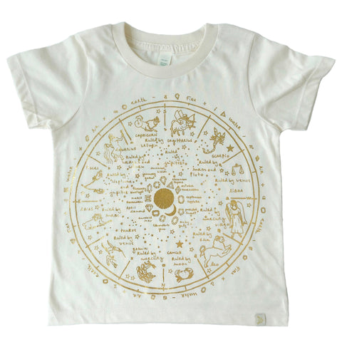 Crew Tee - The Wheel of Life in Gold Foil