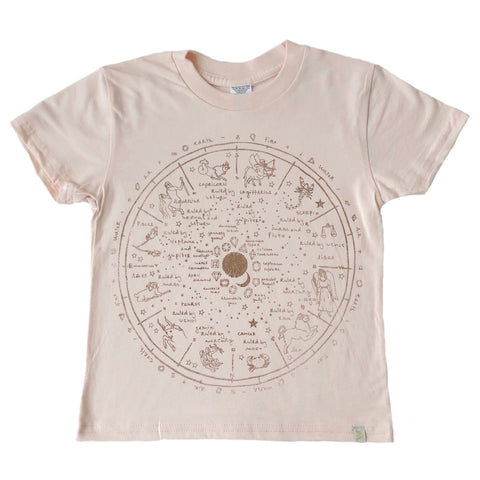 Crew Tee - The Wheel of Life in Rose Gold Foil