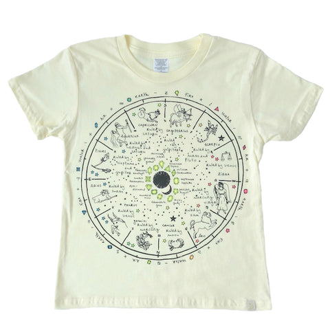 Crew Tee - The Wheel of Life in Yellow